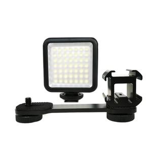Image 2 - Osmo Mobile 4 3 Handheld Gimbal Photography LED Light Microphone Extension Bar For Zhiyun Smooth 4 DJI Osmo DSLR Hot Shoe Mount
