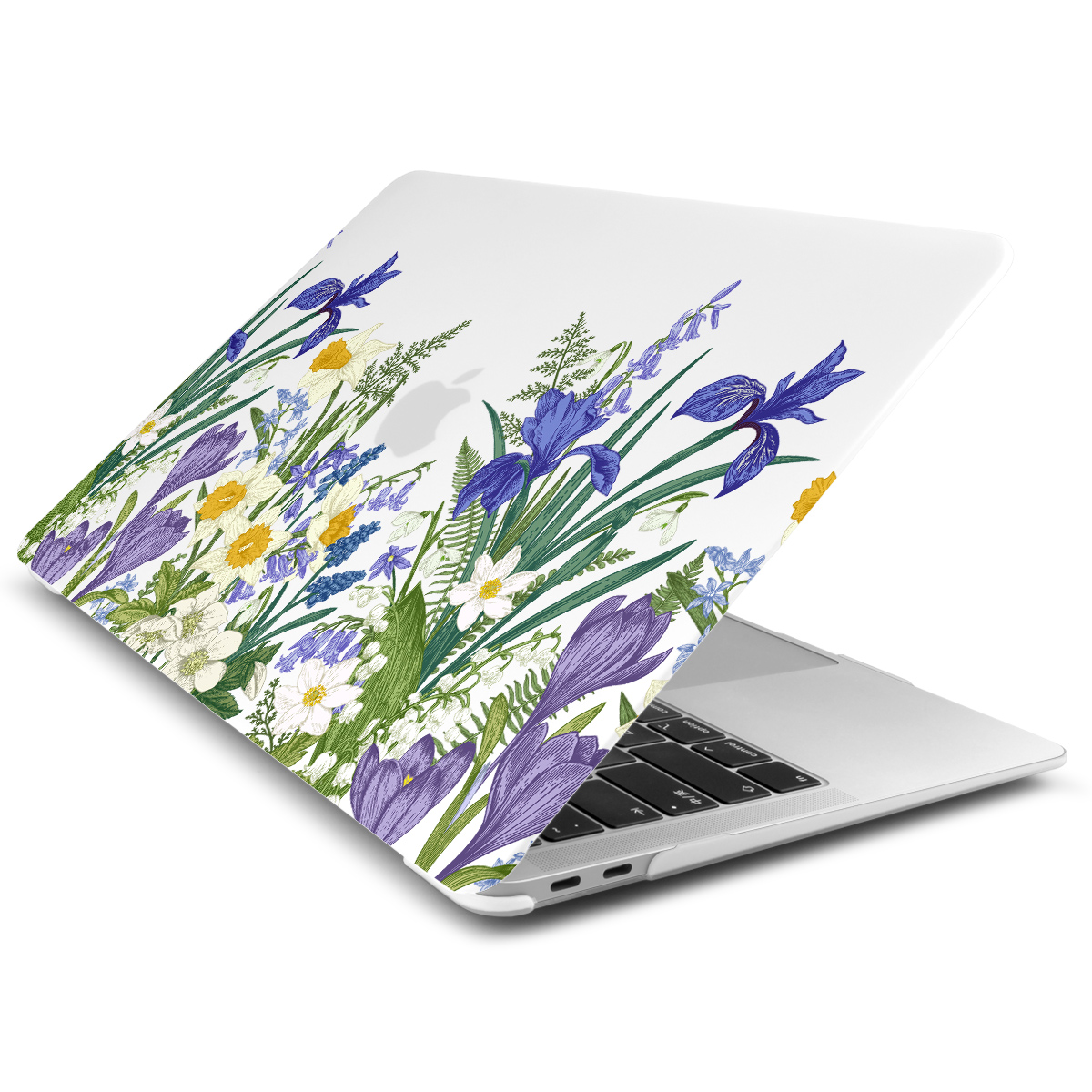 Marble Flower Pattern Case for MacBook 86