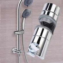 19-25mm chrome chuveiro ferroviário cabeça deslizante titular ajustável braçadeira suportes suporte do banheiro suprimentos domésticos #40