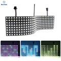 WS2812B WS2812 RGB LED Digital Flexible Individually Addressable Panel Light 8x8 16x16 8x32 Module Matrix Screen DC5V