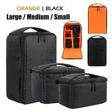 Bolsa de mão acolchoada para câmera, bolsa de suporte de câmera fotográfica à prova de choque para câmera canon, nikon, sony, fuji