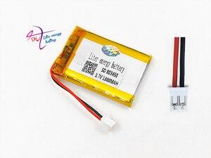 Image 4 - JST PH 2.0mm 2pin 3.7V Lithium Polymer 1800mAh LiPo Pin Sạc với cổng kết nối Cho MP3 DVD MIẾNG LÓT camera GPS Laptop 803450
