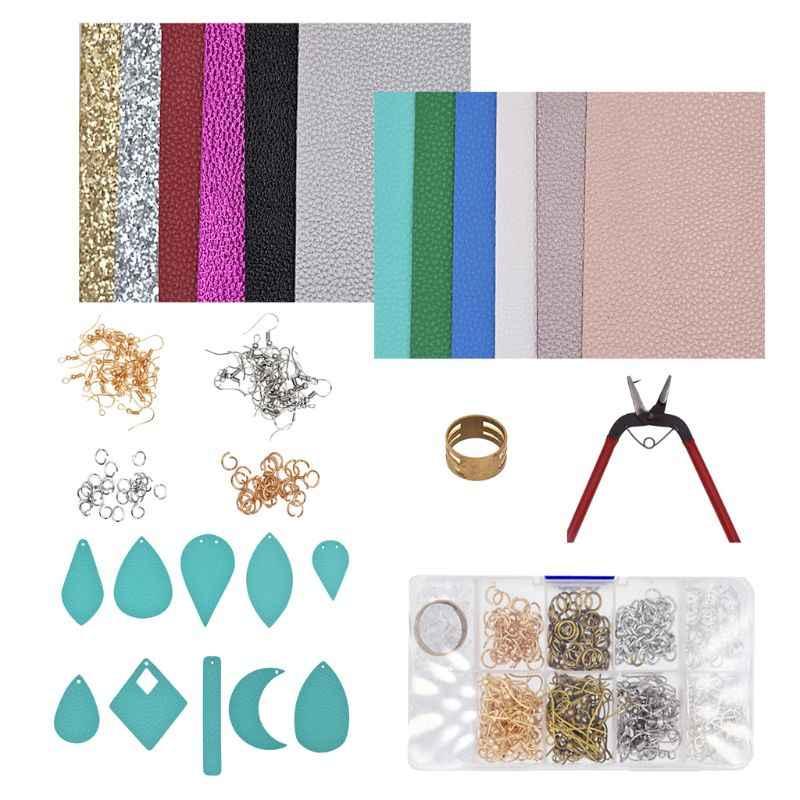 12 шт. листы из искусственной кожи ручной работы из искусственной кожи серьги для изготовления ювелирных изделий большой комплект T4MD