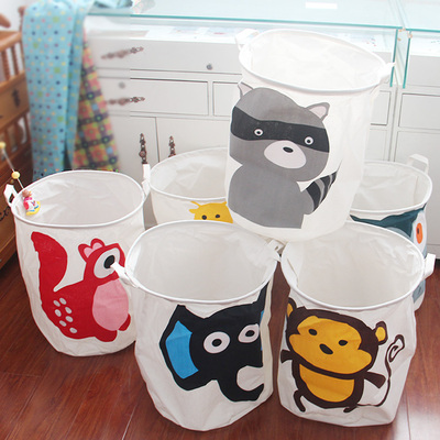 1pc Collapsible Laundry Basket Large Capacity Bin Kids Sundries Toy Organizer Clothing Dirty Clothes Storage Pocket With Handle