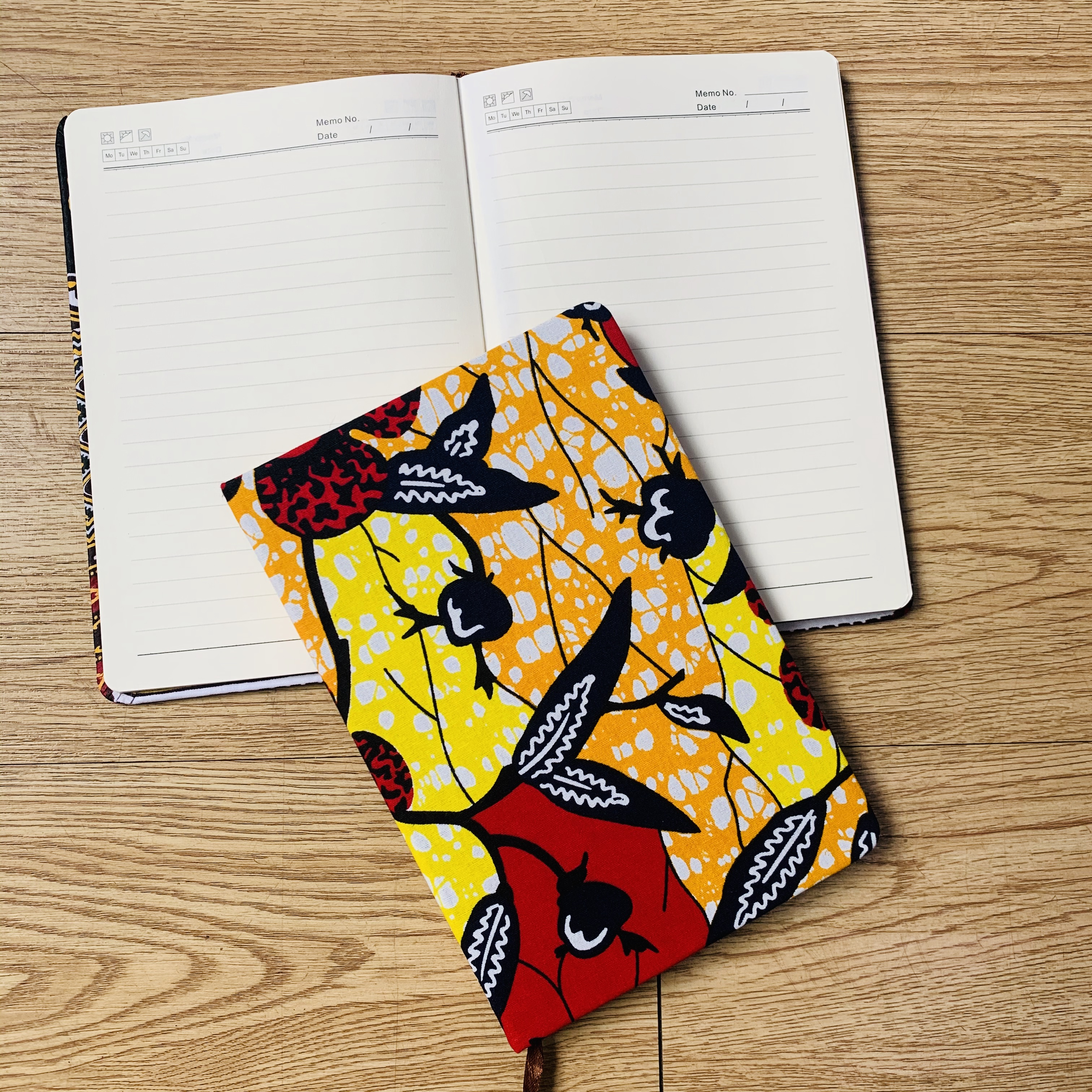African Accessories Ankara Notebook A5 Planner Agenda Diary Hard Cover Yearly Monthly Planning Papers Journal Notebook Daily Mem