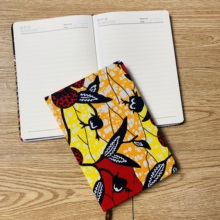 african accessories ankara Notebook A5 Planner Agenda Diary Hard Cover Yearly Monthly Planning Papers Journal Daily Mem