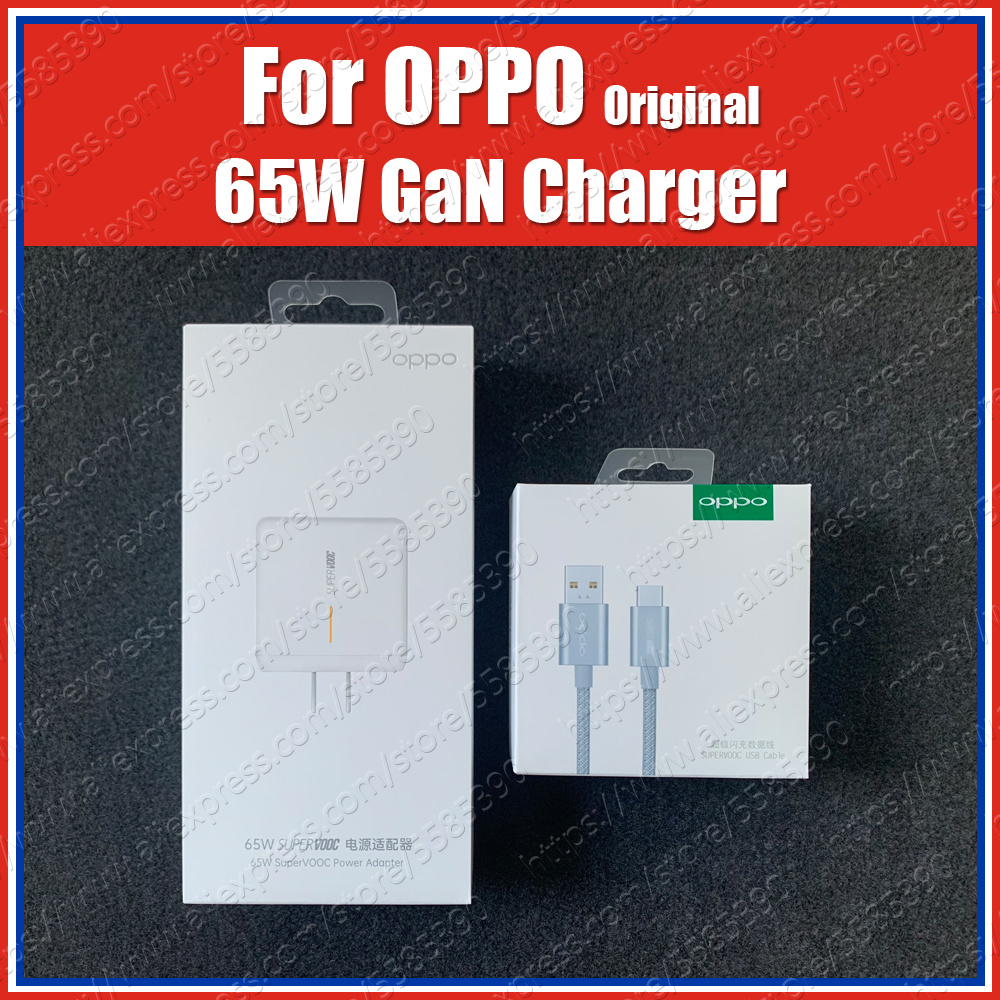 Original OPPO 65W Gan Super VOOC Charger Find Apply To OPPO Find X2 Pro Reno Ace Reno 3 Pro 2z 2f 10x Zoom Find X A5 A9 2020