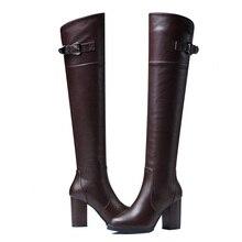 Women Elastic Boots Knee High Boots Round Toe Waterproof Women Winter Boots High Barrel Women Boots Woman Shoes 3-13 цена 2017