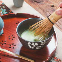 Bamboo Matcha Tea Powder Whisk Pure Handmade Tea Latte Brushes Ceremony Green Tea Set Home Egg Beater with Box Kitchen Gadgets japanese tea brush practical matcha tea powder bamboo 64 whisk green tea chasen brush tool