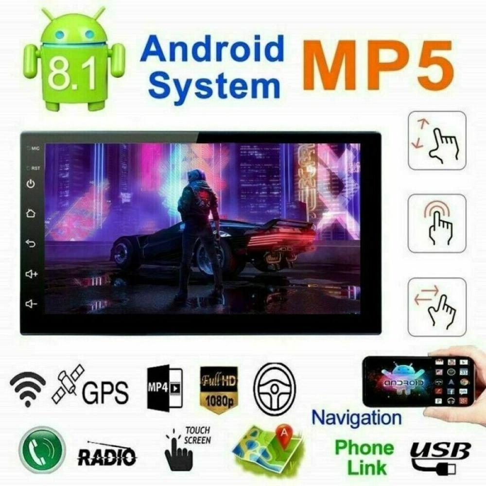 2 Din Android Bluetooth MP5 Player 12V Vehicle GPS Navigation Integrated Machine 9217 Mp5 Player Android 8.1 Car Stereo image