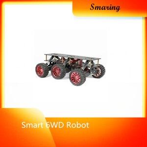 Inteligente 6wd robô carro chassi absorção de choque fora da estrada escalada busca e resgate plataforma para arduino torta framboesa diy rc brinquedo