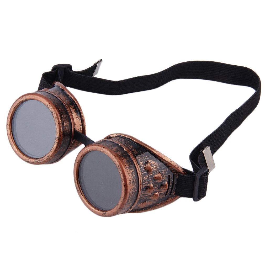 Professional Cyber Goggles Steampunk Glasses Vintage Welding Punk Gothic Victorian Outdoor Sports Sunglasses Men Accessories(China)