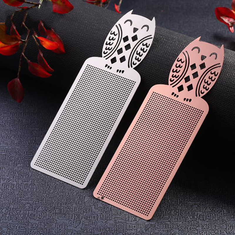1 Pcs Cute Animal Butterfly Owl Cat DIY Craft Cross Metal Pendant Bookmarks Bronze Silver Gold Embroidery Book Marker Stationery
