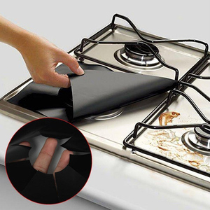 4pcs/lot Reusable Foil Gas Hob Range Stove Top Burner Protector Liner Cover For Cleaning Surface Ant-oil Pad Kitchen Tools(China)
