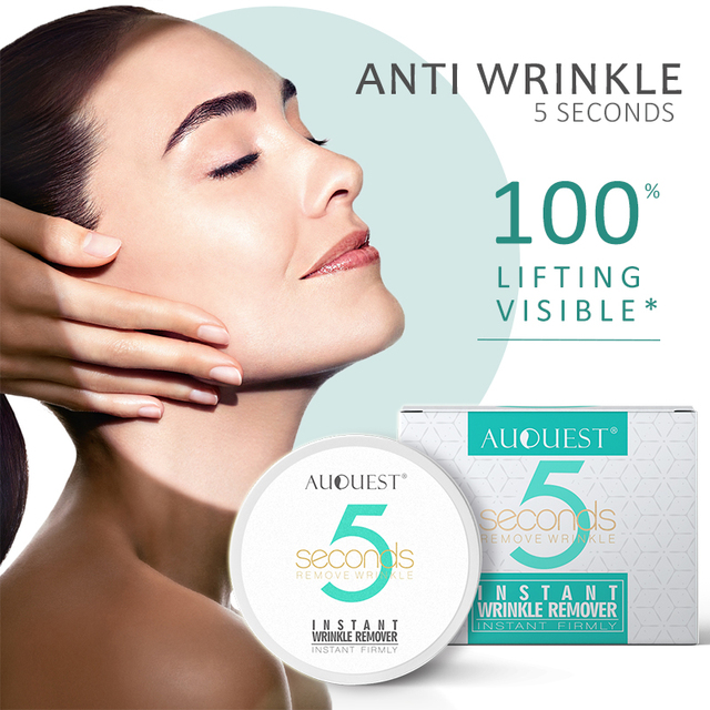 AuQuest 5 seconds Wrinkle Remover Puffy Eye Bags Firm Skin Lifting Peptide Anti Aging Day Cream Makeup Primer Makeup Base Beauty 1