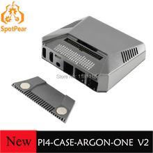Чехол для Raspberry Pi 4, алюминиевый чехол для Raspberry Pi 4 ARGON ONE V2