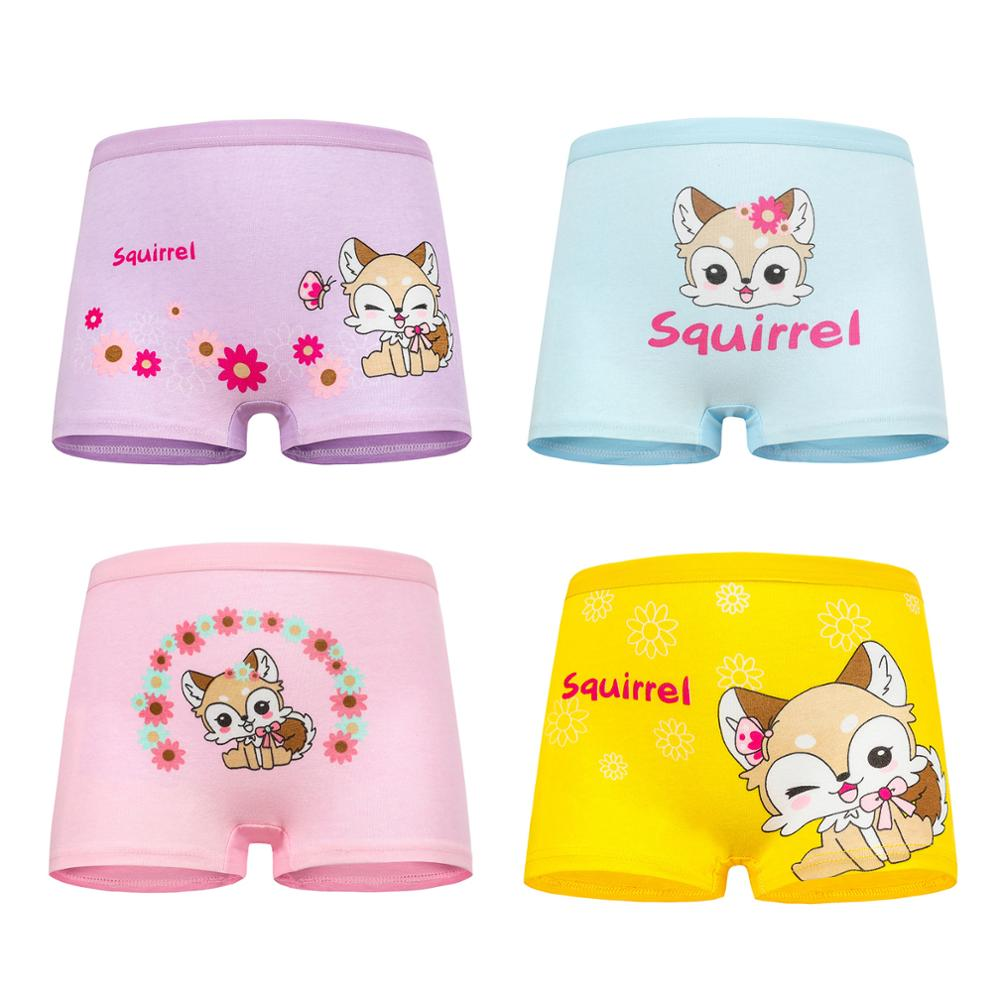 New arrived Girls Underwear Free Shipping Fashion Kids cotton character baby children panties short boxer 4pc  1-7year 6