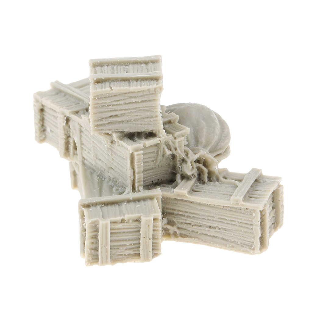 1//35 Resin Figur Resin Boxen und Taschen Modell Resin Kit Resin Soldat Szene