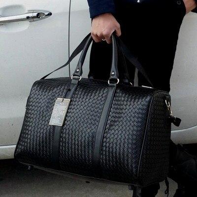 Bolso de viaje de gran capacidad para hombres, equipaje de mano, bolsas de viaje, bolso de cuero, bolso de hombro multifunción, Bolsos Weeke SA-8