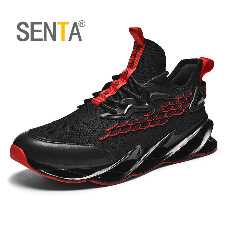 New Outdoor Running Shoes Men Blade Cushioning Walking Jogging Sports Shoes High-quality Lace-up Athietic Breathable Sneakers