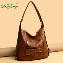 Hot 3IN1 Women's Bag Large Capacity Soft PU Leather Handbag 2020 New Trend Ladies Shoulder Messenger Bags Sac A Main
