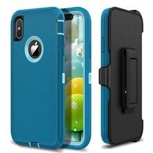 Luxe Hard Case Voor Iphone 12 11 Pro Max X Xs Max Xr 360 Case Voor 7 8 Plus Gevallen robuuste Beschermende Shockproof Cover