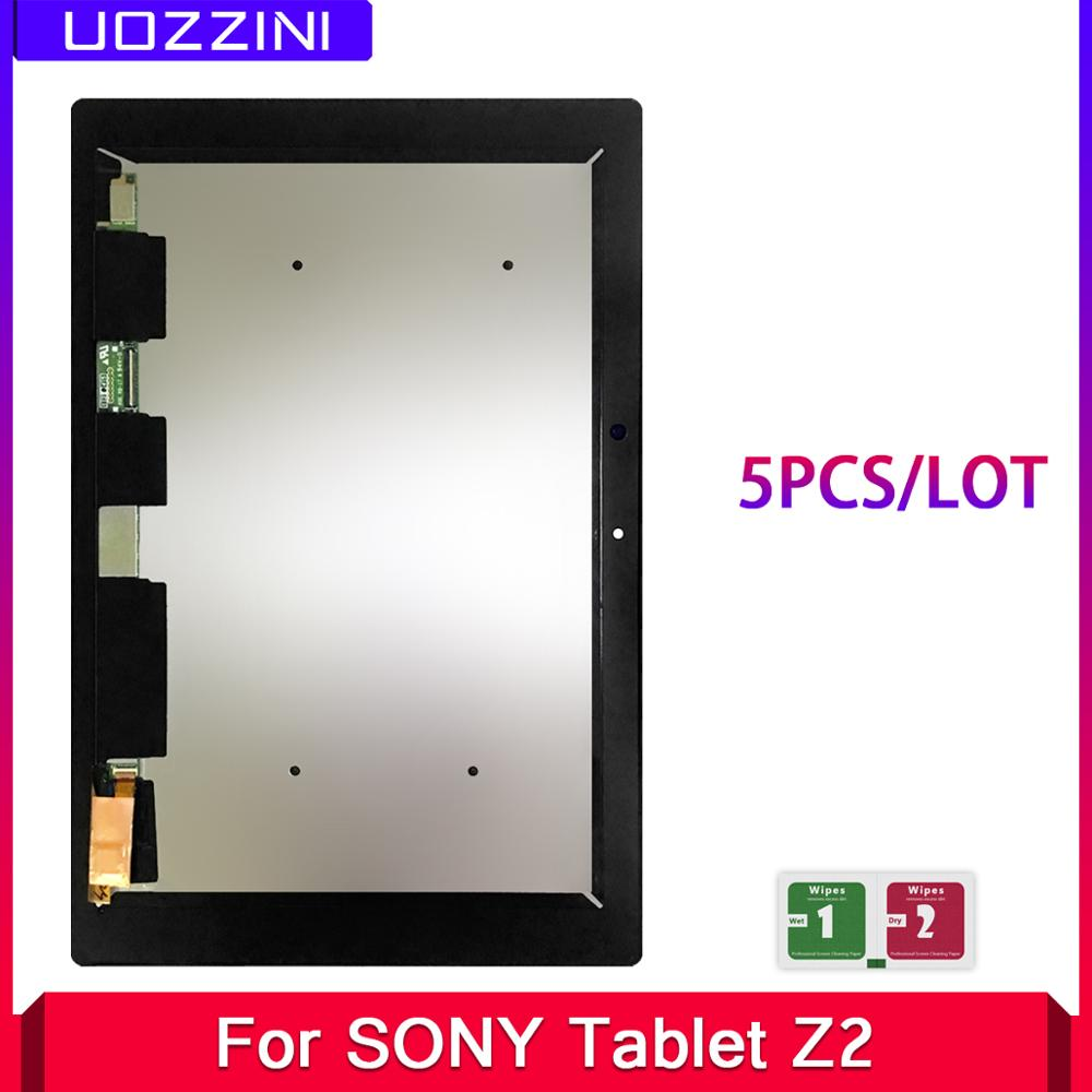 "5 Pcs LCD Display For SONY Xperia Tablet Z2 SGP511 SGP512 SGP521 SGP541 LCD Touch Screen Digitizer Assembly 10.1"" Black"