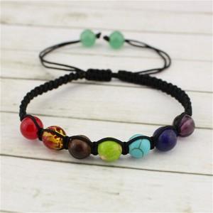 Image 3 - 7 Chakra Bracelet Men Healing Balance Beads 8mm Reiki Prayer Natural Stone Yoga Bracelet For Women