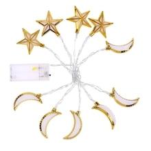 Рамадан украшение пластик фонарь светодиод строка огни Рамадан Ид подарок аль-фитр Ид фестиваль вечеринка принадлежности