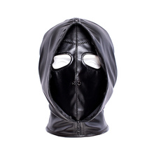 factory Outlet Double layer BDSM Bondage Hood Mask Zipper Closed Erotic Toy, Bla