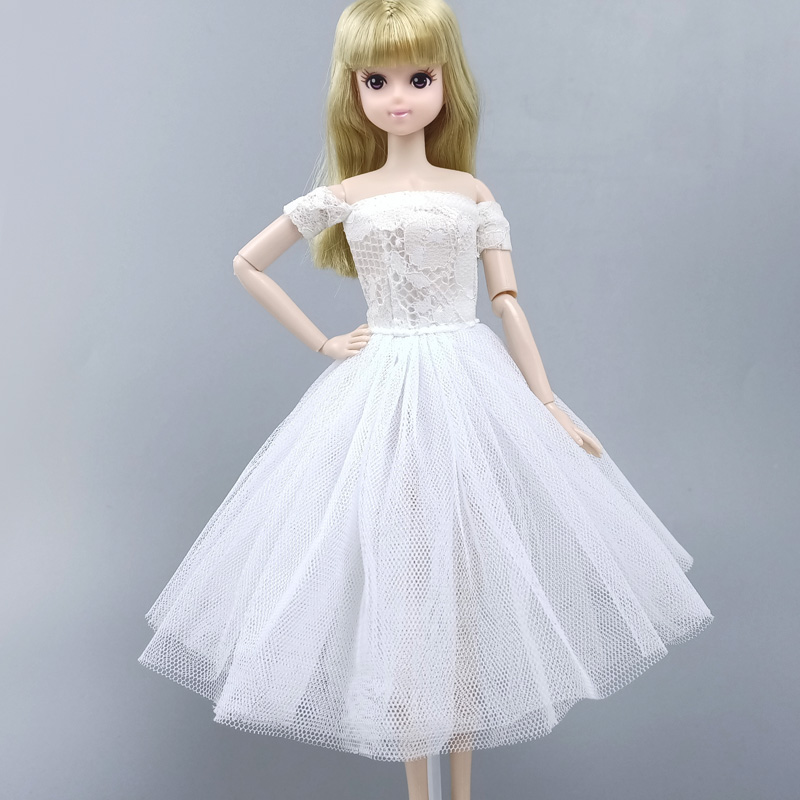 """2pcs//lot Fashion Doll Clothes For 11.5/"""" Doll Outfits Party Gown Short Dress 1//6"""
