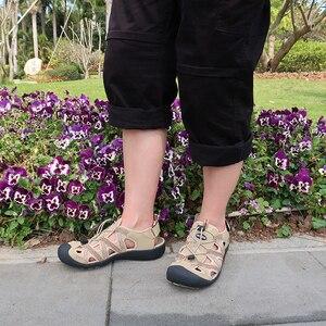 Image 4 - GRITION Women Sandals Flat Casual Outdoor Toecap Protective Trekking Non slip Shoes Comfort Wear risistant Fashion Beach Sandals