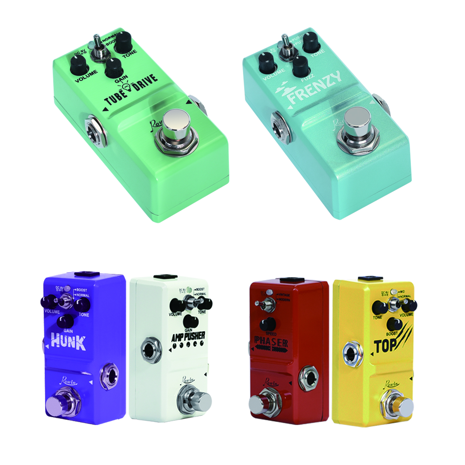 Rowin Nano  Series Effect  Phaser Top Fuzz Amp Pusher Tube Drive
