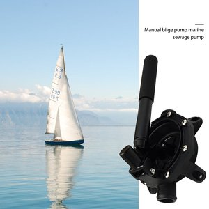720GPH перекачивающий насос для лодки, морской ручной мембранный ручной Трюмный насос для морской воды, дизельный насос для масла и воды, черны...