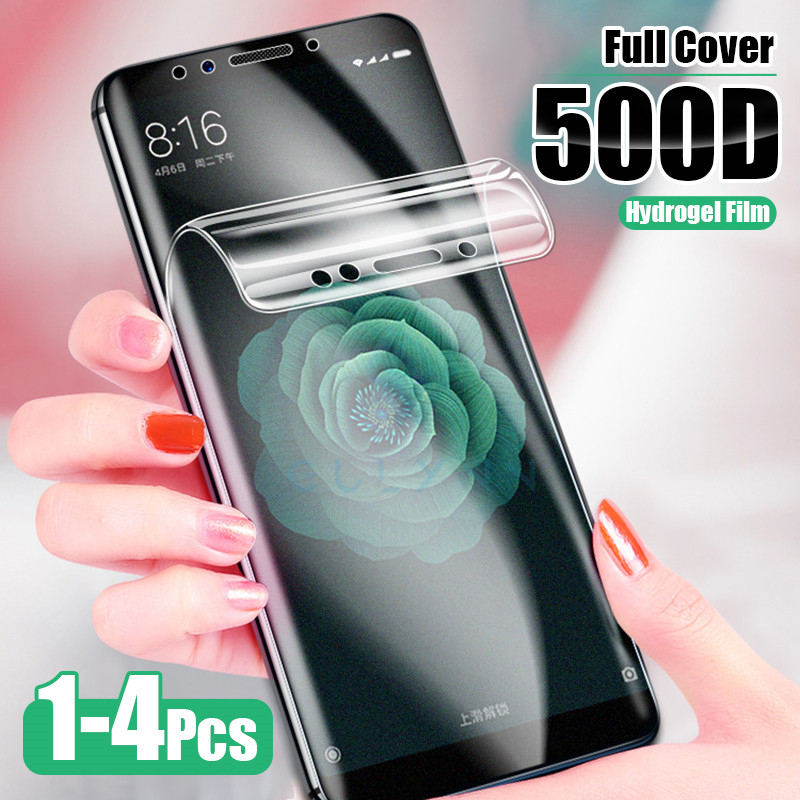 4PCS 500D <font><b>Screen</b></font> <font><b>Protector</b></font> For <font><b>Xiaomi</b></font> Redmi Note 9 8 7 6 Pro 8T 7A 8A not Tempered Glass Redmi 7 8 6 K20 K30 Pro Hydrogel Film image