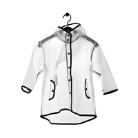2019 New Models Children's Hooded Tassel Transparent Raincoat EVA Raincoat Big Hat Children's Baby Raincoat Kindergarten
