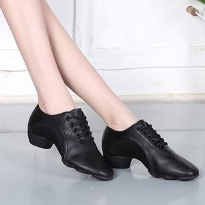Image 5 - 2020 Latin Dance Shoes For Women Teachers Shoe Girls Ladies Leather Ballroom Waltz Tango Foxtrot Quick Step Dance Shoes BD