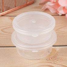 10PCS 15g/20g Transparent Slime Box Plastic Slime Containers Storage Organizer Box With Lids For Fluffy Clear Slime Mud(China)
