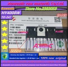 Aoweziic 2020 + 20 adet 100% yeni orijinal HY4008 HY4008W 80V 200A TO 247 MOSFET enversör Ultra 80V 200A