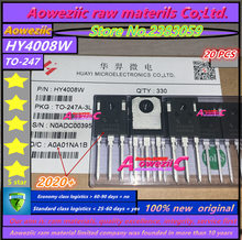 Aoweziic inversor MOSFET Ultra 80V 200A a 2020, 20 piezas, 100% + 247, HY4008 HY4008W