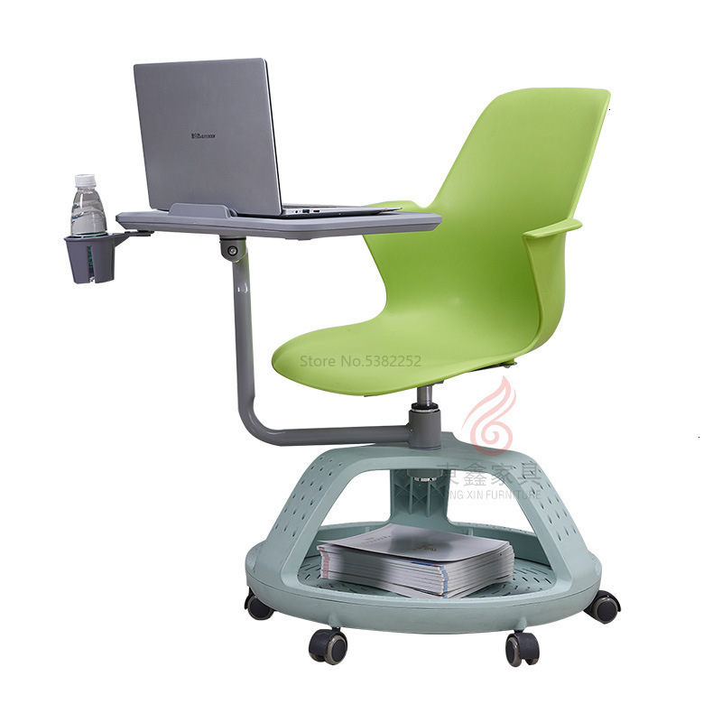 Simple Office Chair Can Rotate Meeting Chair With Writing Board Training Chair Staff Plastic Office Chair