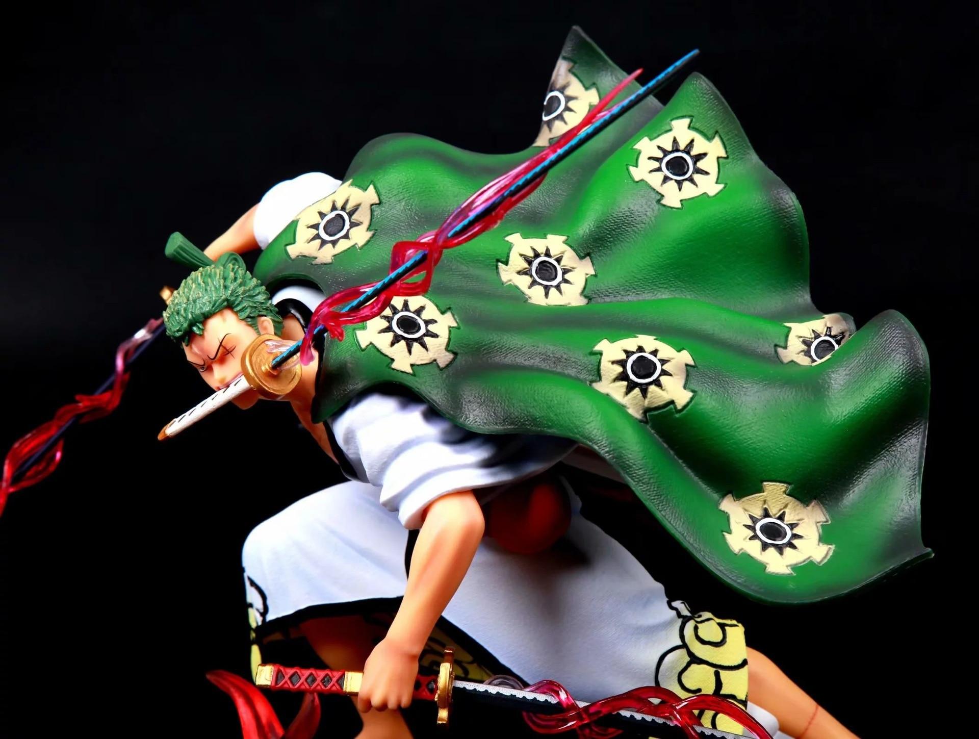 Японское аниме цельное кимоно Roronoa Zoro Battle Ver. GK статуя три тысячи мир эффект ПВХ фигурку Модель игрушки подарок