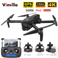 SG906 PRO2 GPS Drone with 5G WiFi FPV 4K 3 axis Gimbal Dual Camera Profesional Brushless RC Quadcopter Dron Helicopter Toy