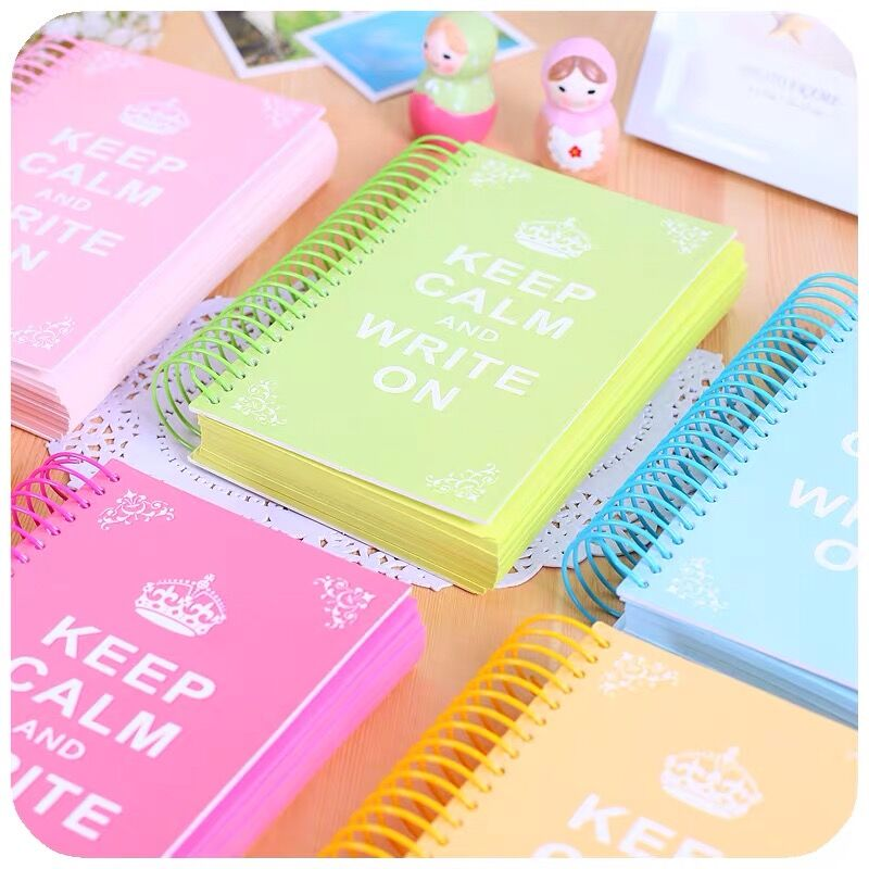 Sharkbang Candy Color Page Coil Blank Spiral Notebook Planner Journals DIY Graffiti Sketch Book Handbook School Stationery