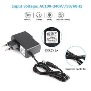 Image 5 - ALLOYSEED AC 110 240V to DC 4.2V 8.4V 12.6V 16.8V 21V 1A 2A Charger Adapter Charger Plug Power Adapter for 18650 Lithium Battery