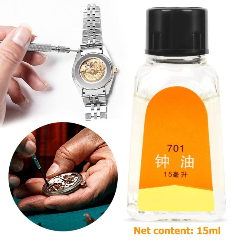 15ML Watch Oil For All Watches Pocket Watch Repair Movement Good Quality Clock Lubricant Oil Cleaning Watch Tool Accessories