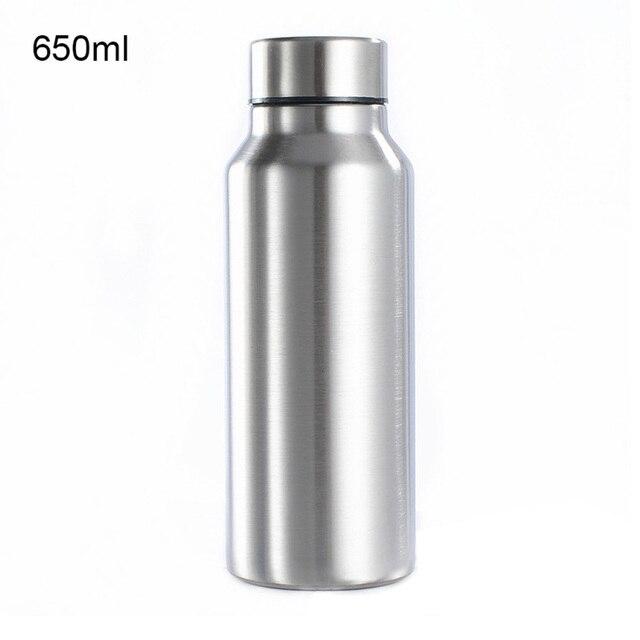 650ML/1000ML Edelstahl Anti-verbrühungen Motion Sport Wasser Flasche Robuste Wasser Tasse Mono Metall Farbe Trinken flasche Drink