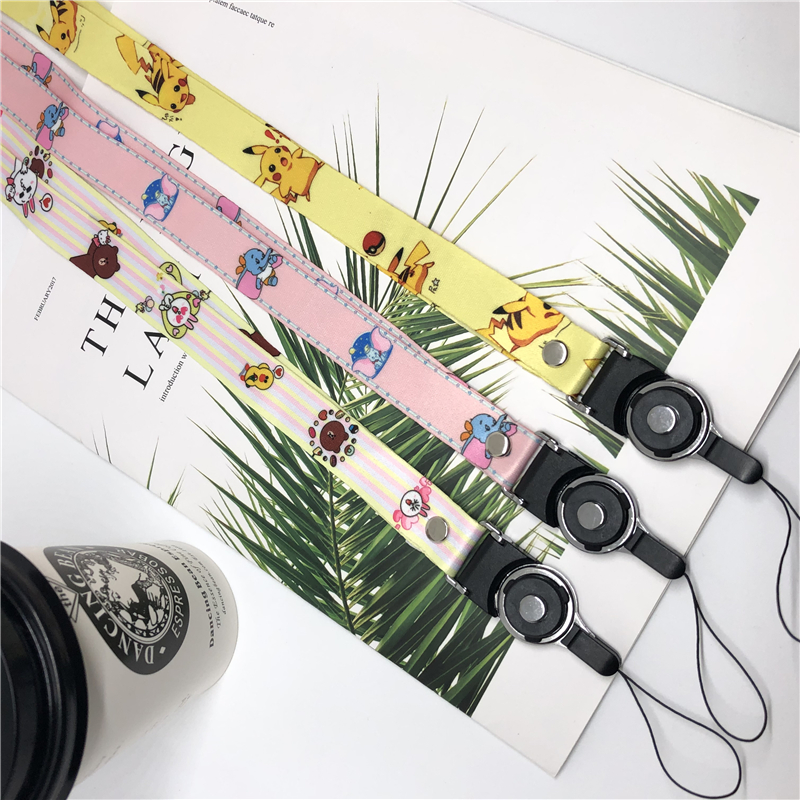 Anime Cute Cartoon Neck Strap Lanyard For Keys ID Card Gym Mobile Phone Straps USB Badge Holder DIY Hang Rope
