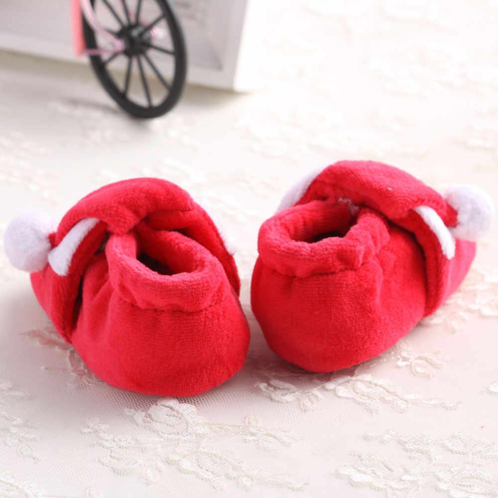 Christmas Baby Shoes Newborn Boy Girl Toddler  Toddler Infant Newborn Santa Claus Soft Sole Baby Girl Boy Prewalker Shoes