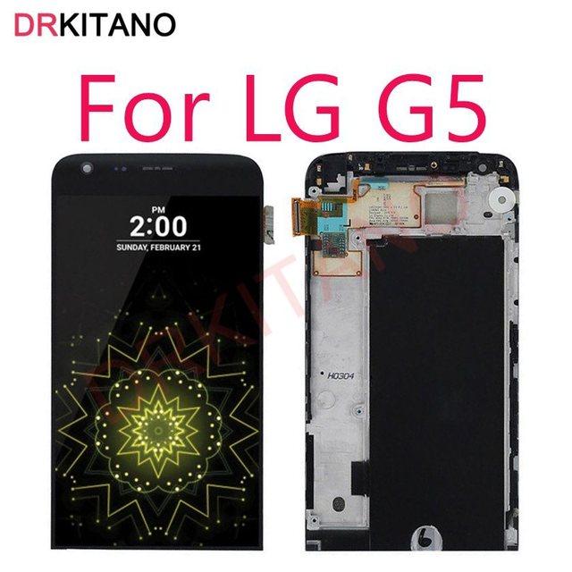 """5.3 """"Display Per LG G5 Display LCD Touch Screen Digitizer Assembly H840 H850 Sostituzione Dello Schermo Per LG G5 LCD con Telaio"""